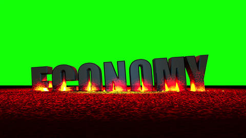 Economy Meltdown (Green Screen) Animation
