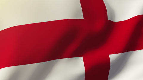 England flag waving in the wind. Looping sun rises style.... Stock Video Footage