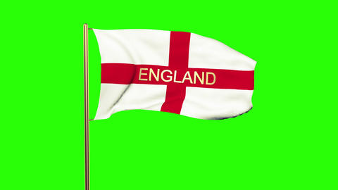 England flag with title waving in the wind. Looping sun... Stock Video Footage