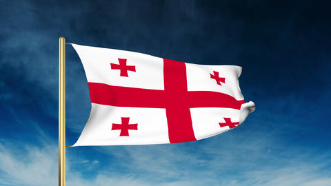 Georgia flag slider style Footage