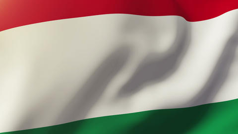 Hungary flag waving in the wind. Looping sun rises style. Animation loop Animation