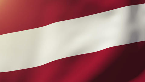 Latvia flag waving in the wind. Looping sun rises style.... Stock Video Footage