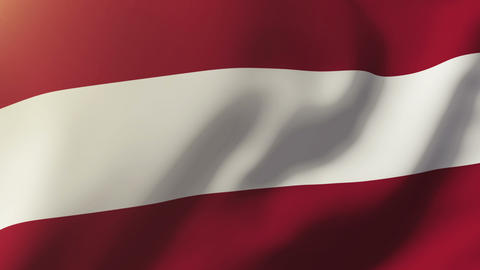 Latvia flag waving in the wind. Looping sun rises style. Animation loop Animation