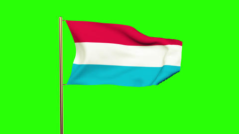 Luxembourg flag waving in the wind. Looping sun rises style. Animation loop. Gre Animation