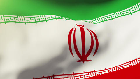 Iran flag waving in the wind. Looping sun rises style.... Stock Video Footage