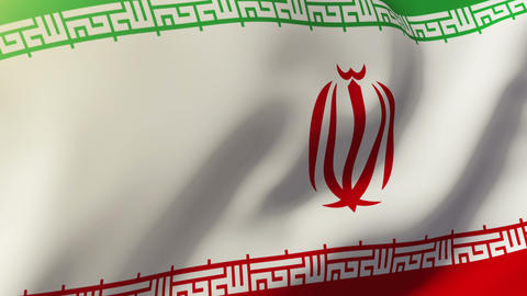 Iran flag waving in the wind. Looping sun rises style. Animation loop Animation