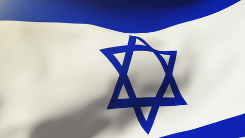 Israel flag waving in the wind. Looping sun rises style.... Stock Video Footage