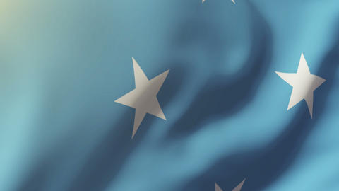 Micronesia flag waving in the wind. Looping sun rises style. Animation loop Animation