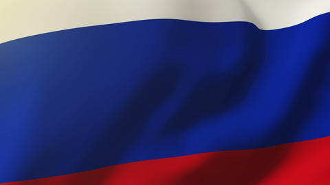 Russia flag waving in the wind. Looping sun rises style. Animation loop Animation