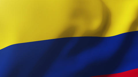 Colombia flag waving in the wind. Looping sun rises style. Animation loop Animation