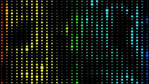 Colorful Led Lights 03 loop Animation
