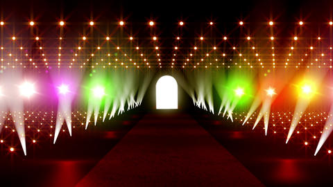 On The Red Carpet 18 colorful lights Stock Video Footage