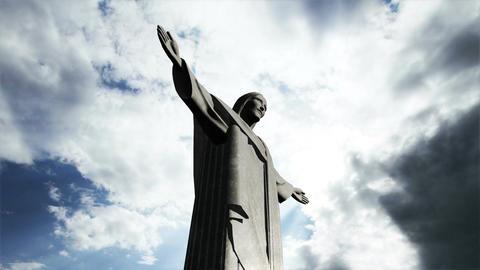 Rio Jesus Clouds Timelapse 05 Stock Video Footage