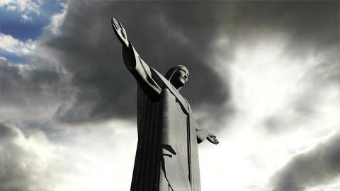 Rio Jesus Clouds Timelapse 07 Stock Video Footage