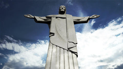 Rio Jesus Clouds Timelapse 09 Animation