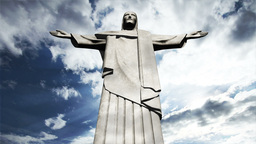 Rio Jesus Clouds Timelapse 09 Stock Video Footage