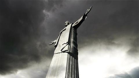 Rio Jesus Clouds Timelapse 15 Stock Video Footage