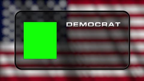 USA Presidential Election Vote 03 loop GS Stock Video Footage