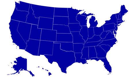 USA States Stock Video Footage