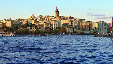 istanbul galata timelapse Stock Video Footage