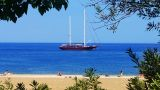 Sail Boat at the beach Footage