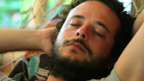 Sleeping On hammock Stock Video Footage