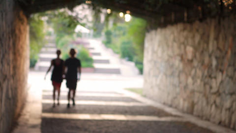 Romantic Couple walking Stock Video Footage