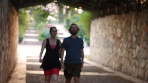 Romantic Couple walking Stock Video Footage