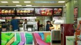 Inside Of A McDonald's Restaurant stock footage