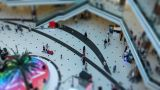 miniature shopping center with high speed Footage