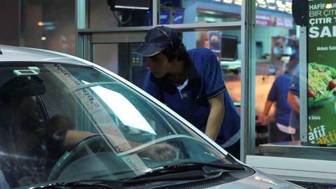 mcdonalds drive-thru Stock Video Footage