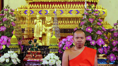 Buddhist Monk Stock Video Footage