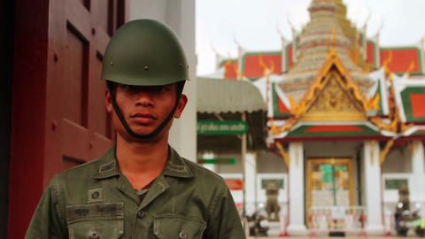 Thai soldier Stock Video Footage