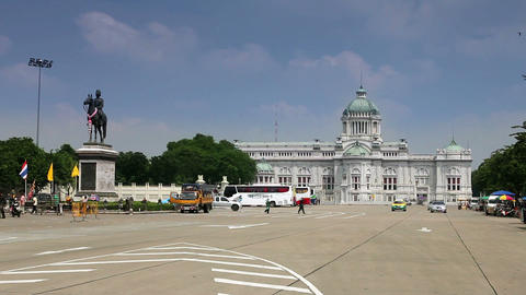 Thai Parliament Stock Video Footage