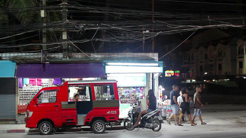 Ordinary thai shop Stock Video Footage