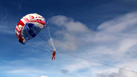 Parasailing Stock Video Footage