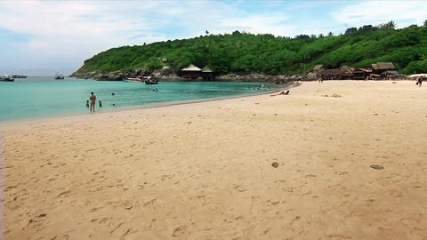 swimming in an exotic beach Stock Video Footage