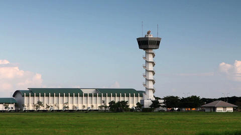 airport control tower Stock Video Footage