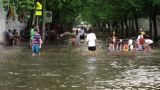 Street under flood Footage