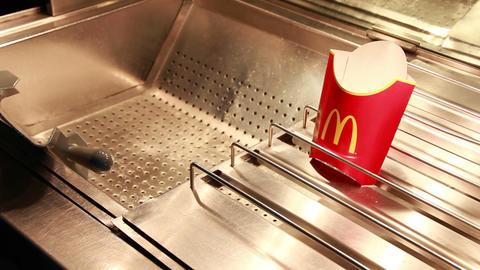mcdonalds potatoes Stock Video Footage
