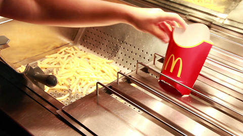 mcdonalds potatoes Stock Video Footage