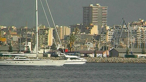 Sailing yacht 8 Stock Video Footage