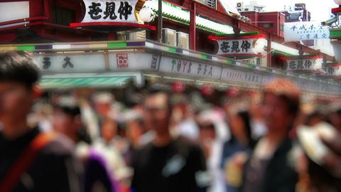 Anonym Crowd Tokyo Asakusa SlowMotion 60fps 02 Footage