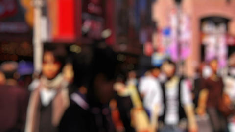 Anonym Crowd Tokyo SlowMotion 60fps 06 Stock Video Footage