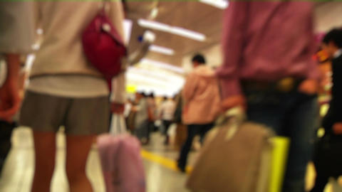 Anonym Crowd Tokyo Subway SlowMotion 60fps 17 Stock Video Footage