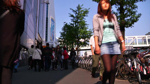 Crowd Tokyo SlowMotion 60fps 16 Stock Video Footage