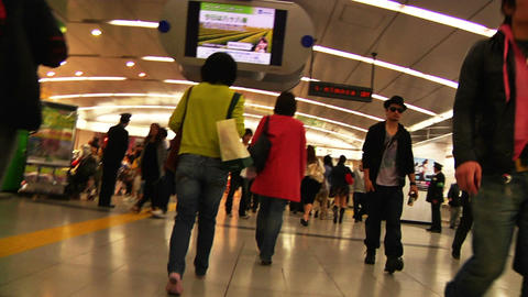 Crowd Tokyo Subway SlowMotion 60fps 19 Footage