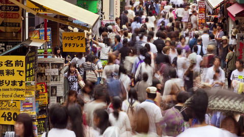 Takeshita Dori Street in Tokyo Stock Video Footage