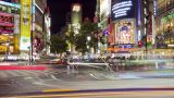 Busy Shibuya Crossing At Night stock footage
