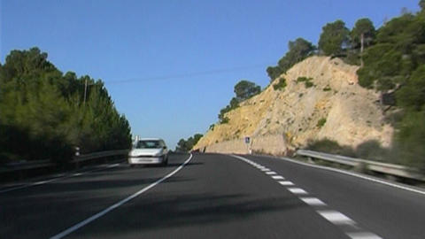 Mallorca Highway Stock Video Footage